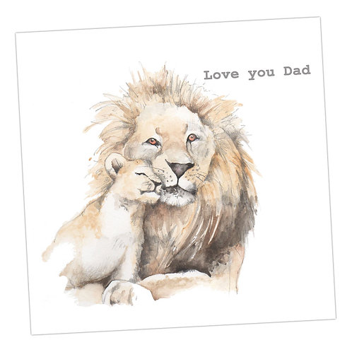 Lion & Cub - Love you Dad Card