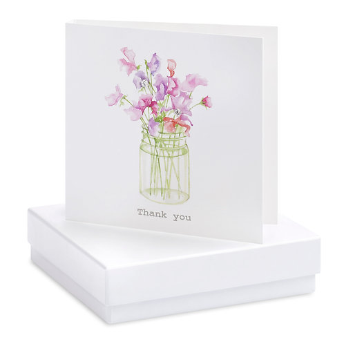 Boxed Sweet Pea Thank you Earring Card