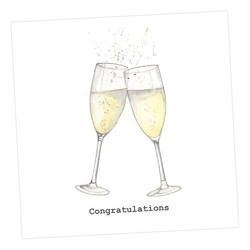Congratulations Flutes Card