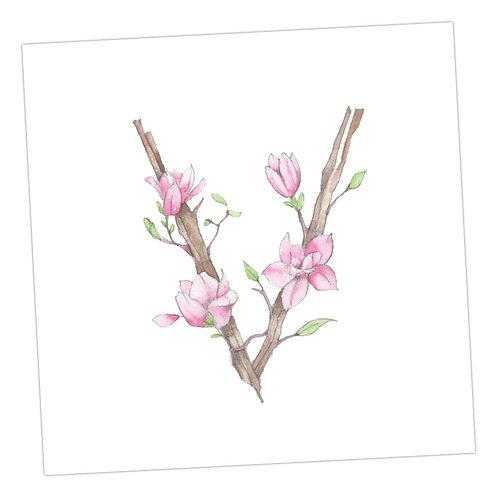 Floral Letters V
