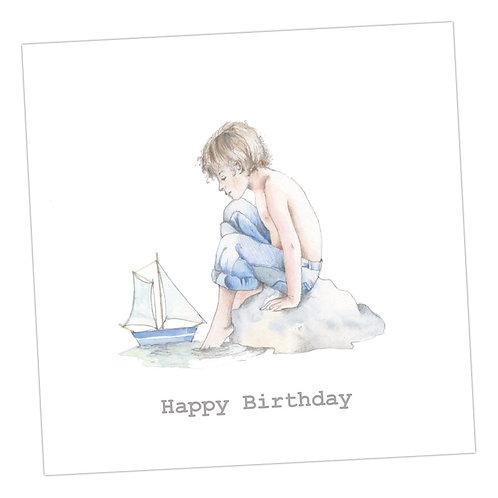 Beside the Seaside Birthday Card