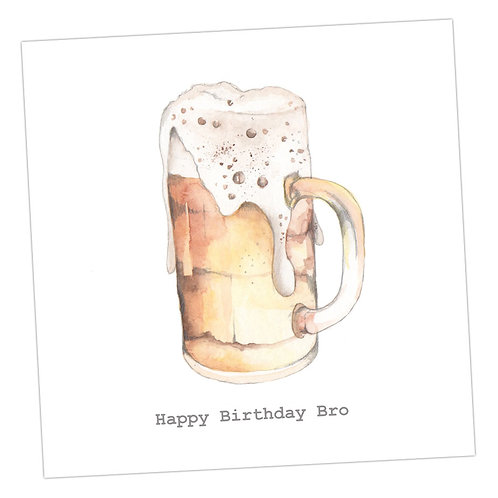 Brother Beer Card