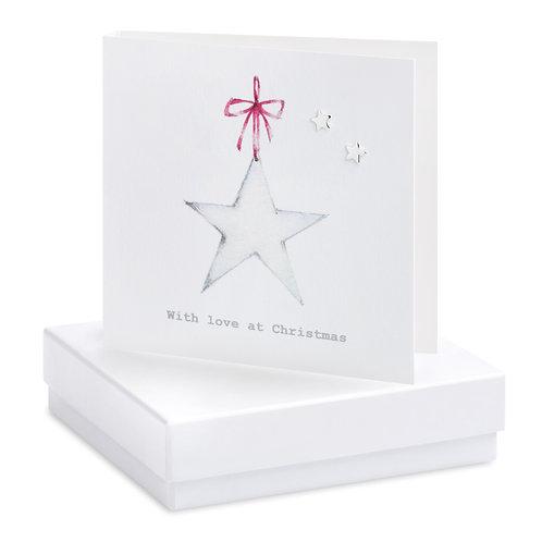 Boxed Christmas Star Earring Card