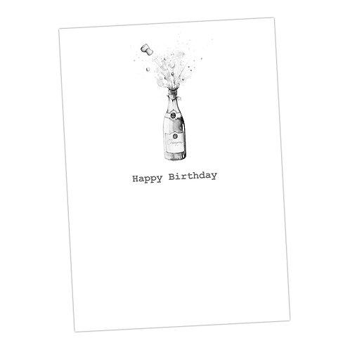 Exploding Birthday Champagne