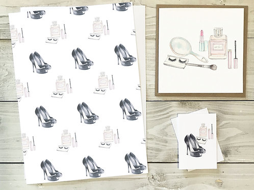 Girlie Gift Wrap & Tag Pack