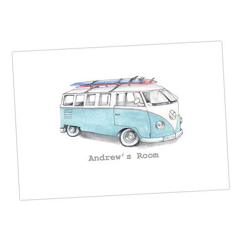 The Camper Personalised Print
