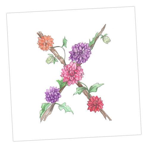 Floral Letters X