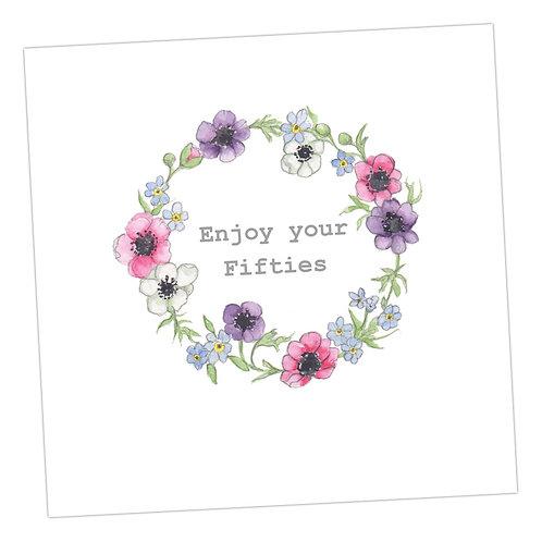 50's Wreath Card