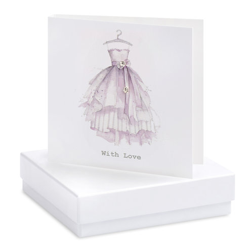 Boxed Dress With Love Earring Card