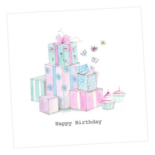 Pretty Presents Birthday Card