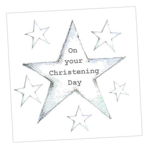 Star Christening Card