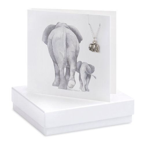 Boxed Elephant  Necklace Card