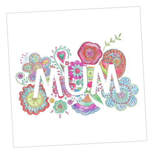 Embroidered Mum Card