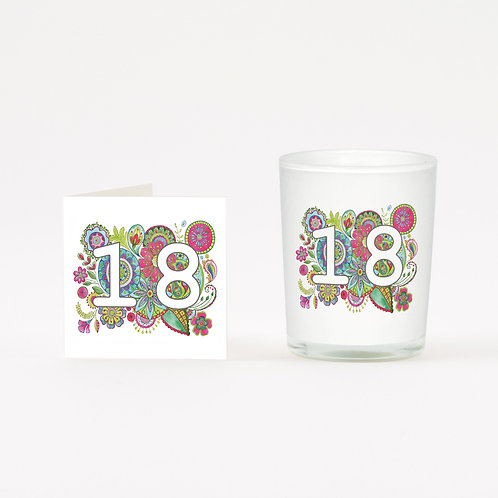 Boho 18 Boxed Candle & Card