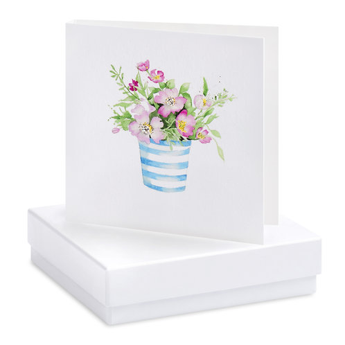 Boxed Pot of Flowers Earring Card