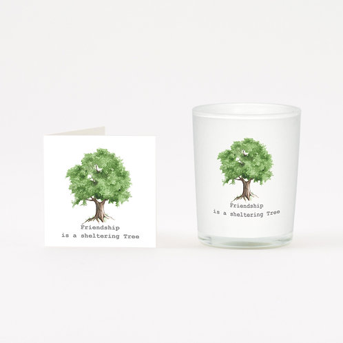 Green Friendship Tree Boxed Candle & Card