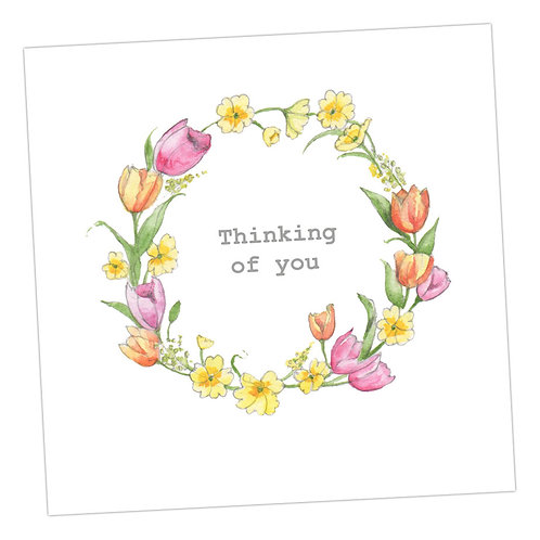Thinking of You Floral Wreath