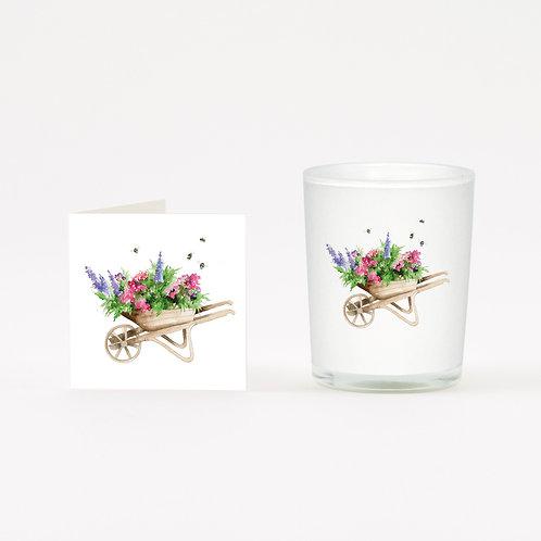 Wheelbarrow Boxed Candle & Card