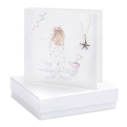 Boxed Beach Baby Necklace Card
