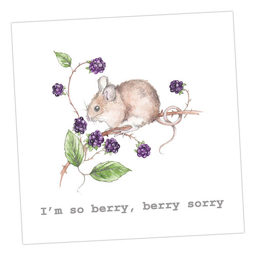 Berry Sorry Card