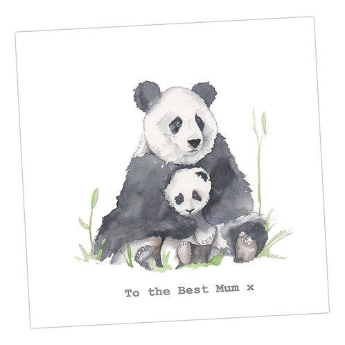 Mum Panda card