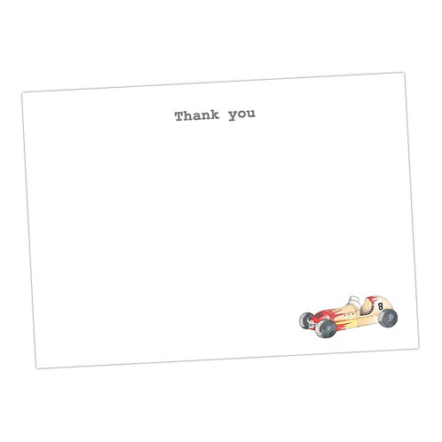 Racing Car Note Cards