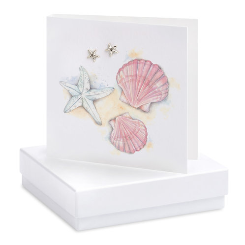 Boxed Shell Earring Card