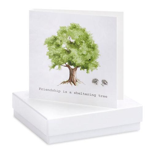 Boxed Friendship Tree Earring Card