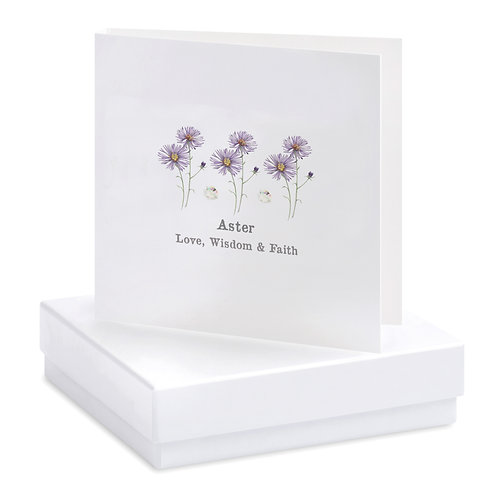 Boxed Aster Earring Card