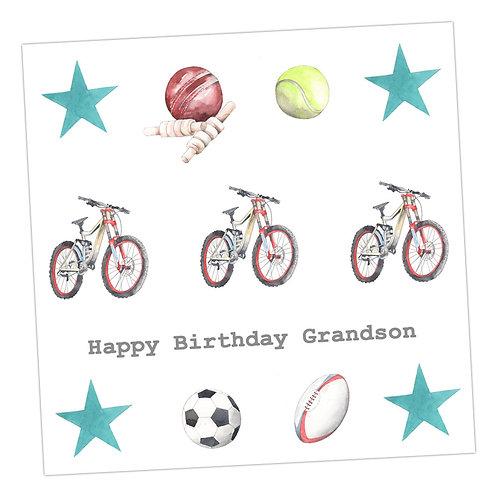 Grandson Sporty Card