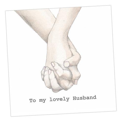 Holding Hands Husband Card