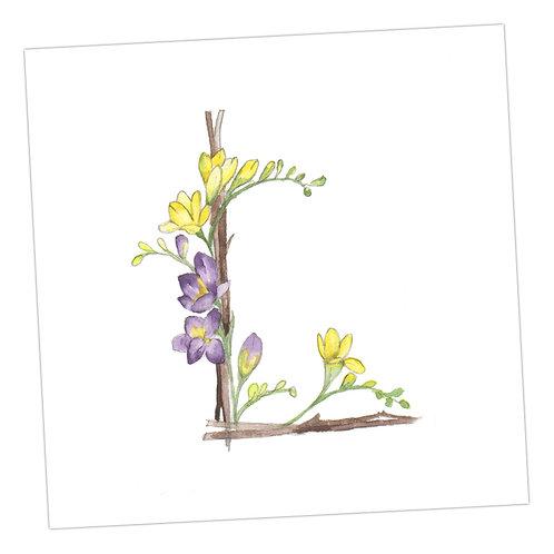 Floral Letters L