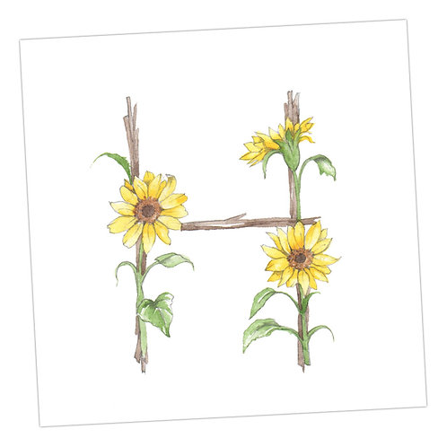Floral Letters H
