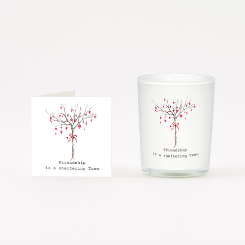 Heart Friendship Tree Boxed Candle & Card