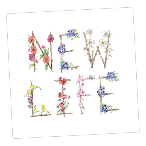 Floral Letters New Life
