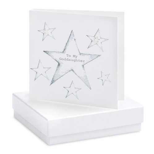 Boxed Goddaughter Earring Card
