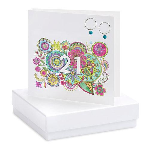 Boxed Boho 21st Earring Card