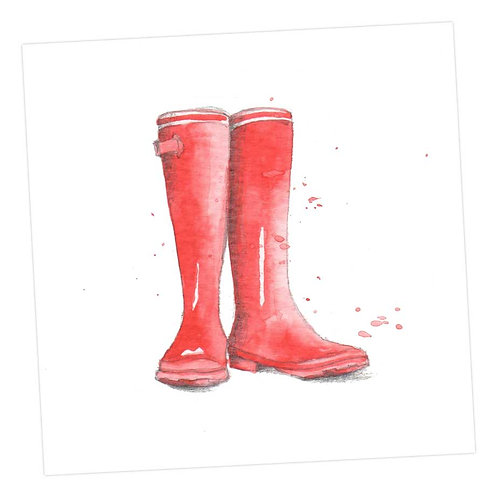 Red Wellies Card