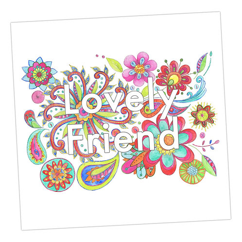 Embroidered Lovely Friend Card