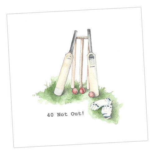 Cricket 40 Not Out Card