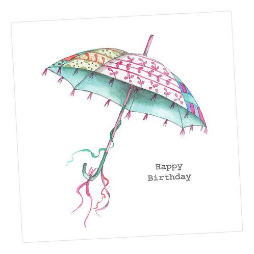 Boho Birthday Umbrella