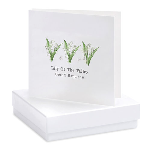 Boxed Lily of the Valley Earring Card