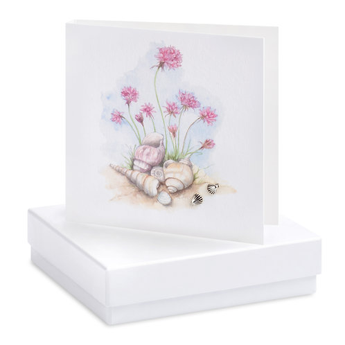 Boxed Seapinks Earring Card