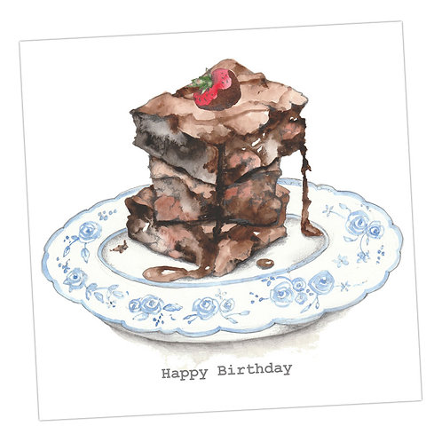 Chocolate Brownie Birthday Card