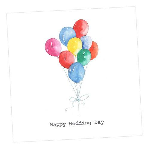 Jolly Balloons, Wedding Card