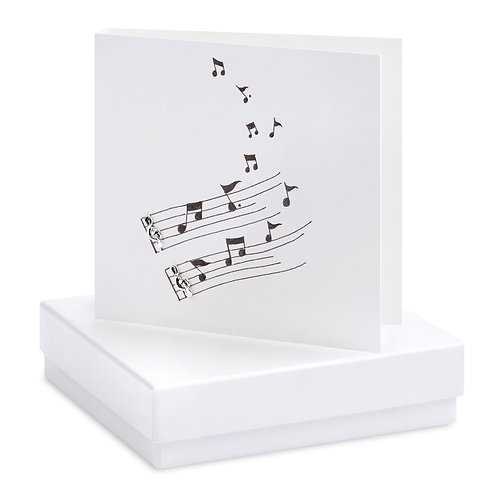 Boxed Musical Earring Card