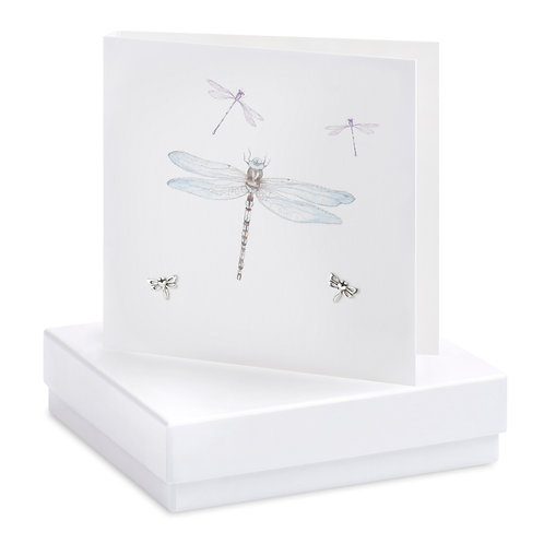 Boxed Earring Card Dragonfly Blank