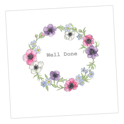 Well Done Wreath Card