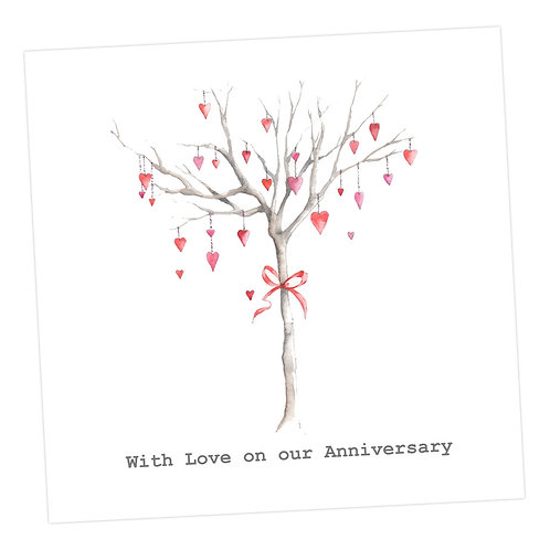 Heart Tree Anniversary Card