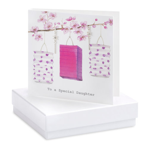 Boxed Earring Card Lanterns special Daughter